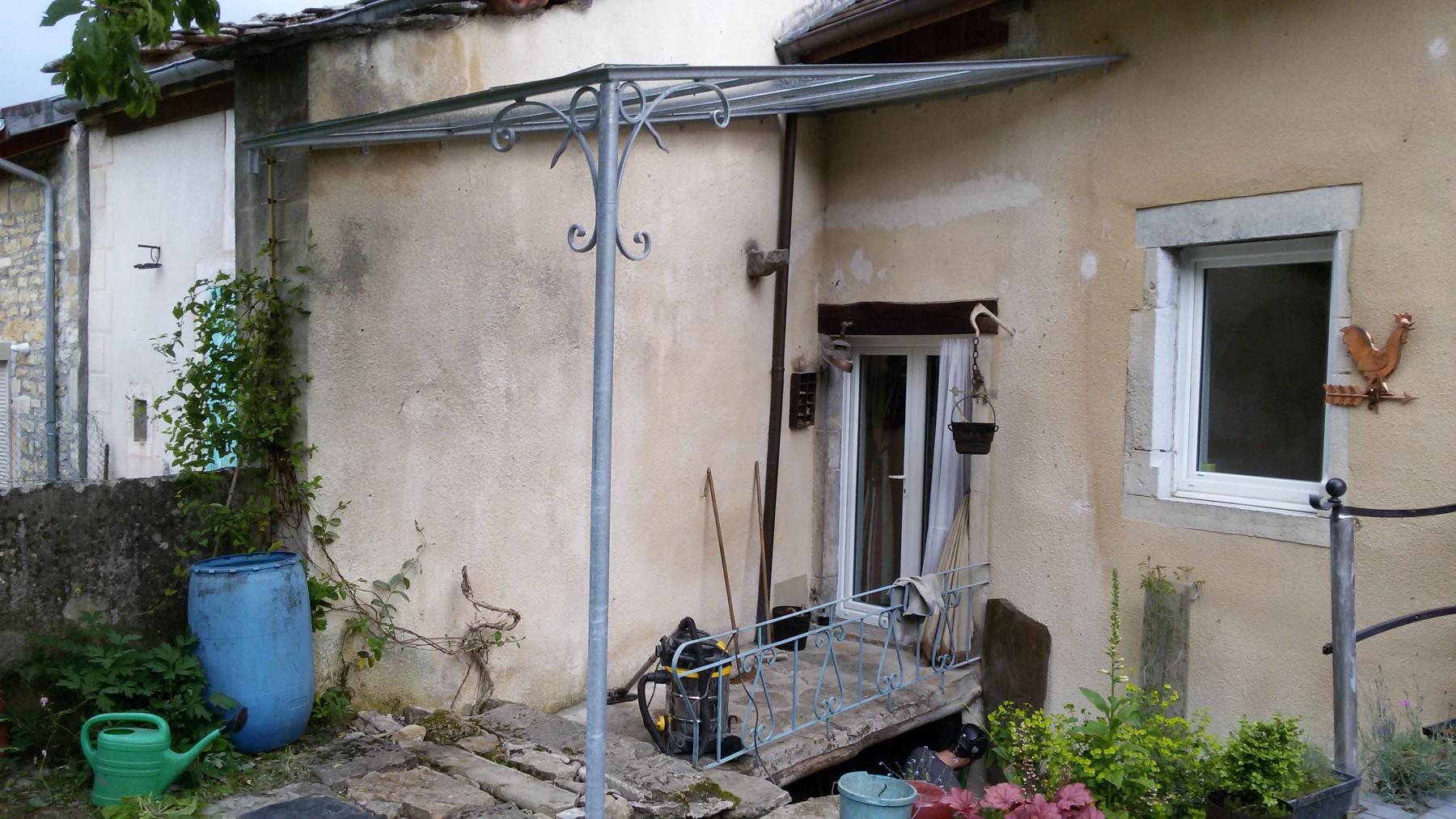 veranda pergola galvanisé