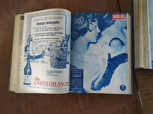Colección en dos volúmenes de la revista Hola de 1958