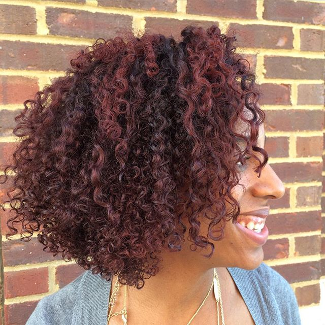 Loving this dark red with copper undertones that me and my partner in crime _juju_c_k did for our #k