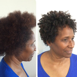 Instagram - Before and after #devacut using the new #devacurl #decadence and the