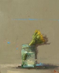 Sunflower in Mason Jar