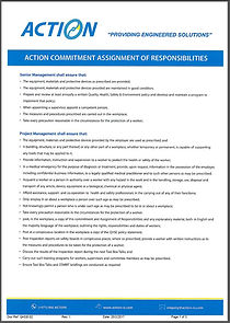 Action Commitment Assignment of Responsibilities