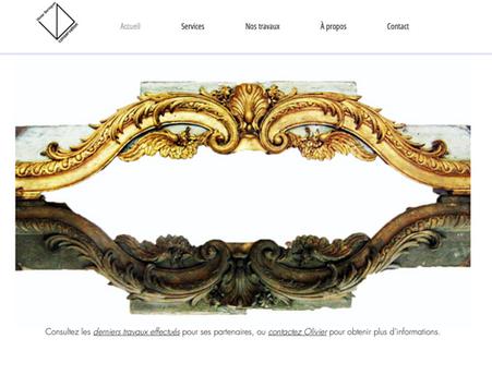Identité visuelle de l'entreprise Olivier Béringuer (Restauration et conservation d'oeuvres d'art)