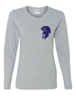 "Women's Long Sleeve Tee ""Helmet Logo"""