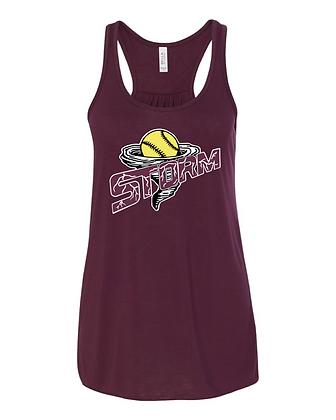 Storm Softball Racerback Tank - Maroon