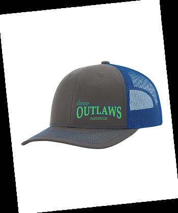 Iowa OUTLAWS Fastpitch Trucker Cap Small Logo