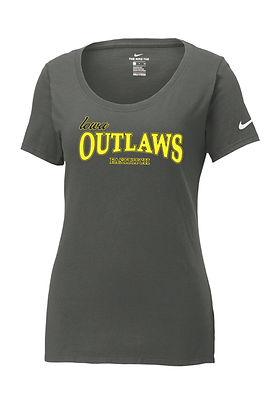 "Outlaw Grey ""Full Logo"" Womens Nike Core Cotton Tee"