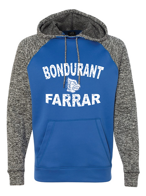 BF Performance Hoodie  Distressed Logo - Blue/Grey