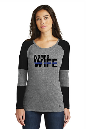 Back the Blue WDMPD Wife Baseball LS Tee