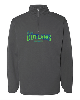 Iowa OUTLAWS Fastpitch 1/4 Performance - Charcoal