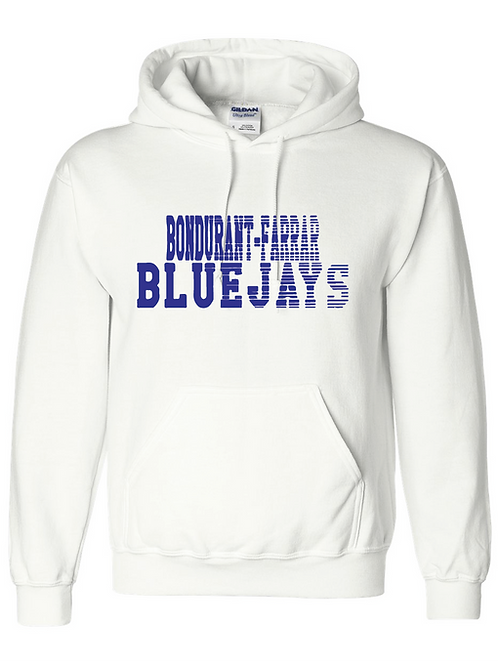 Bluejays Hoodie - Fade Out Logo - White