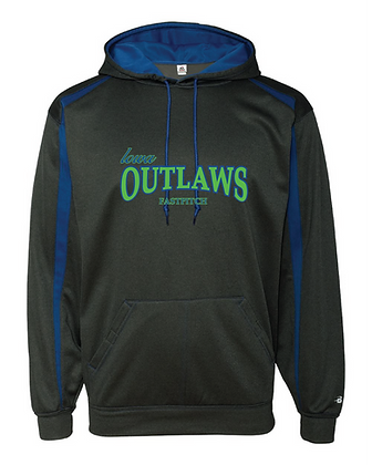 Iowa OUTLAWS Fastpitch Fusion Performance Hoodie Carbon/Royal