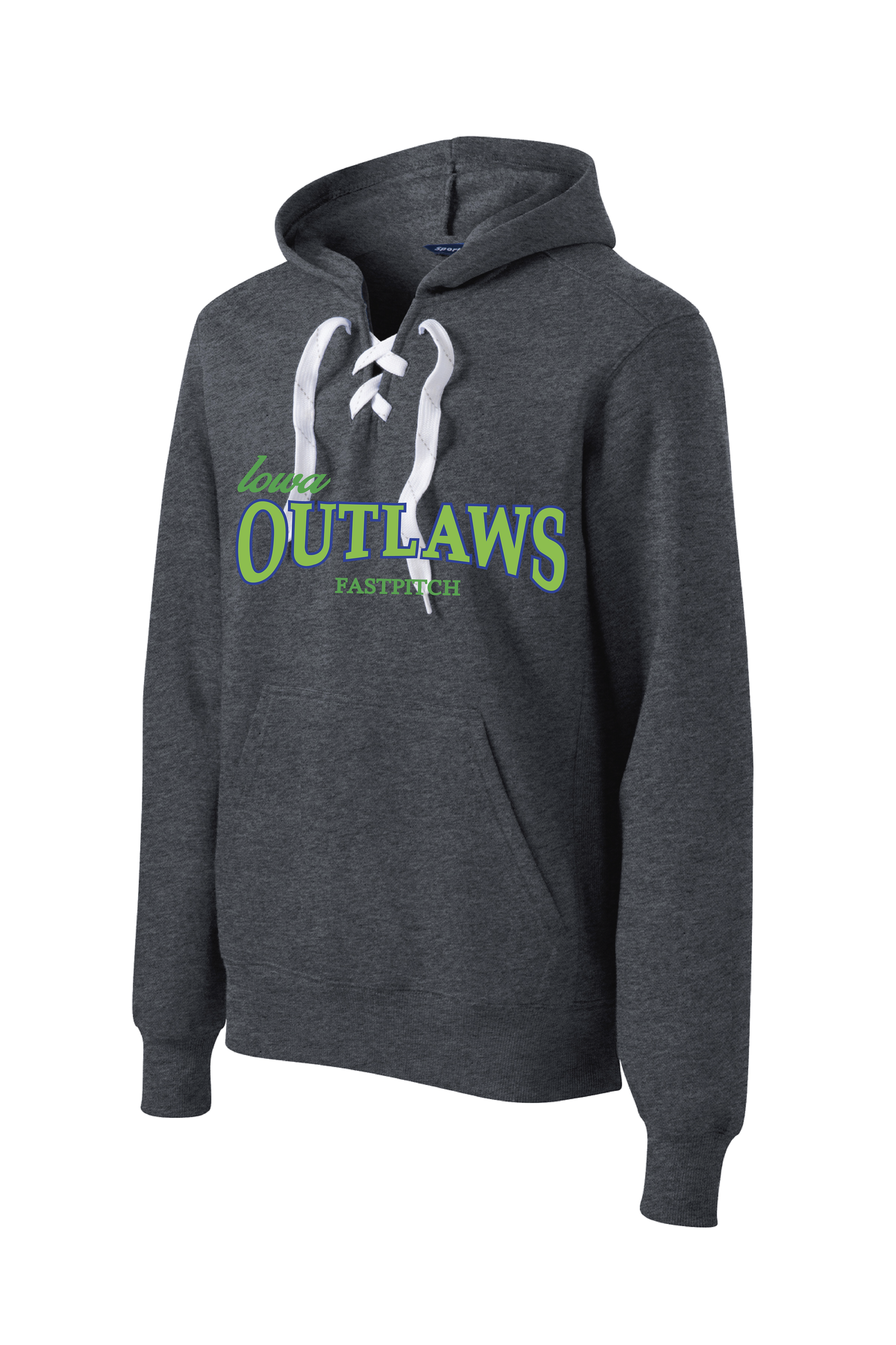 Iowa Outlaws Lace Up Hoodie