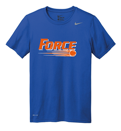 Force Softball Nike Performance Tee (Full Logo)