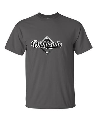 Metro Diamonds T-Shirt -Charcoal