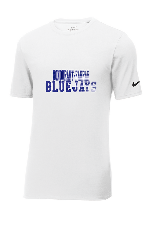 Nike Dri-FIT Cotton/Poly Tee - BF Bluejays Fade Logo