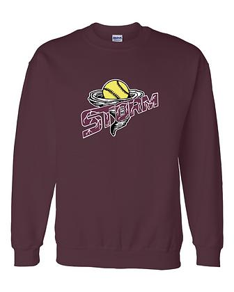 Storm Softball Crewneck Sweatshirt - Maroon
