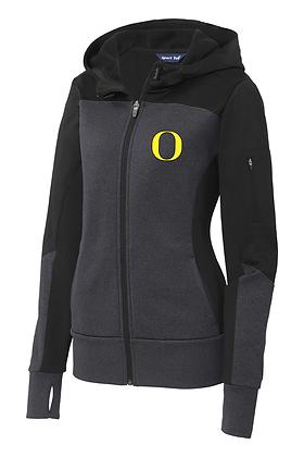 Outlaw Grey Performance Fleece Thumbhole FullZip Jacket