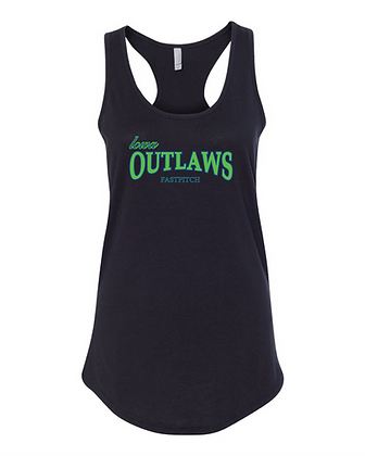 Iowa OUTLAWS Fastpitch Tank-Top - BLACK