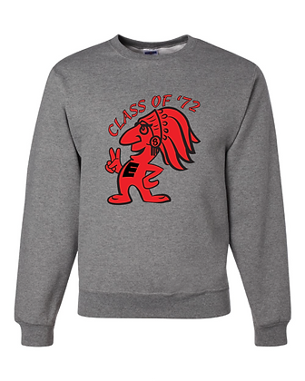 Scarlets Class of '72 - Crewneck Sweat Shirt 50/50 -GREY