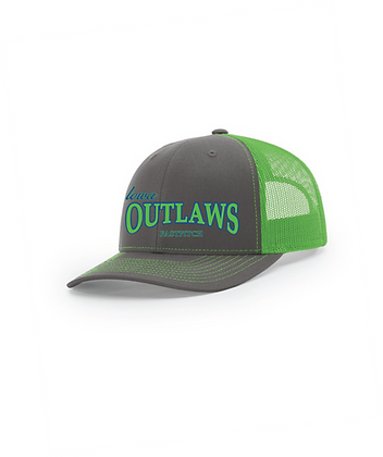 Iowa OUTLAWS Fastpitch Trucker Cap Green