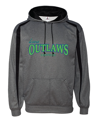 Iowa OUTLAWS Fastpitch Fusion Performance Hoodie Steele/Black