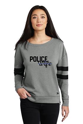 Back the Blue Police Wife Varsity Crew