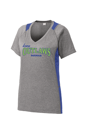 Iowa Outlaws Womens Contender T-Shirt (Performance)