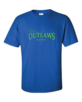 Iowa OUTLAWS Fastpitch YOUTH T-Shirt Royal Blue