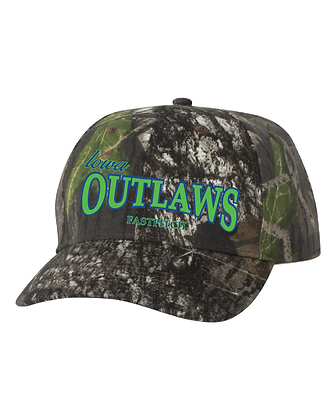 Iowa Outlaws Fastpitch Camo Cap Fitted or Adjustable