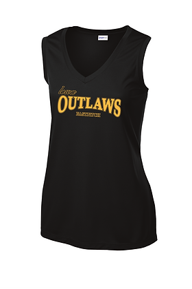 Iowa Outlaws Grey Performance Tank - Women's -Black
