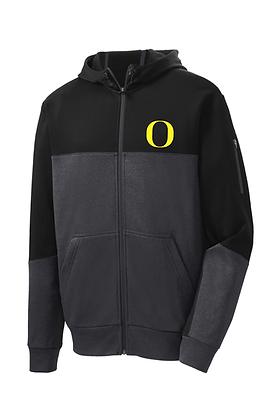Outlaw Grey Mens Performance Fleece FullZip Jacket