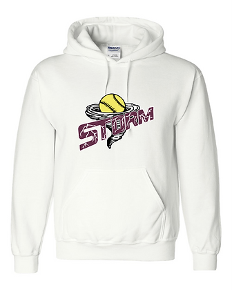 Storm Softball Hoodie - White