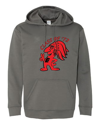 SCARLETS CLASS OF '72 PERFORMANCE HOODIE - CHARCOAL