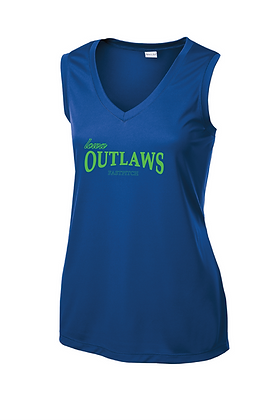 Iowa OUTLAWS Fastpitch PERFORMANCE TANK - ROYAL