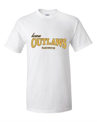 Iowa Outlaws Grey T-Shirt White
