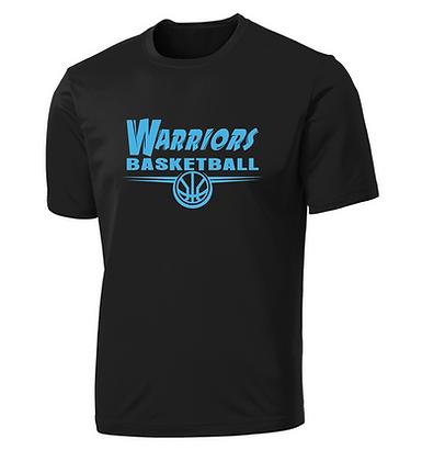 "Warriors Performance Tee ""Camp Logo"" - BLACK"