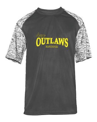 Iowa Outlaws Grey Performance T-Shirt FULL LOGO