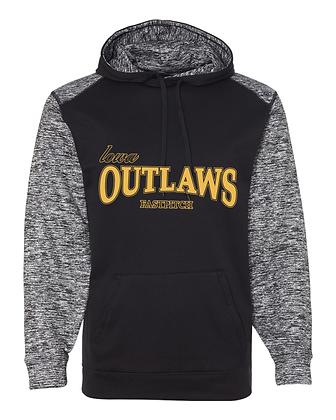 Iowa Outlaws Grey - Performance Hoodie