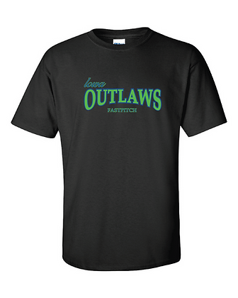 Iowa OUTLAWS Fastpitch Basic T-Shirt Black