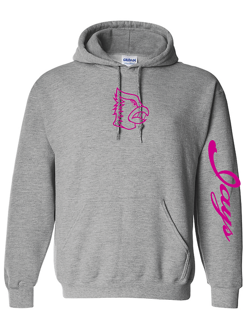 BF Hoodie with Pink Logo