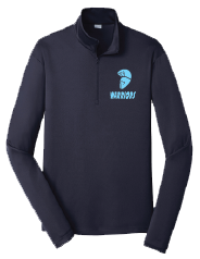 Warriors Lightweight 1/4 Zip Pullover - Navy