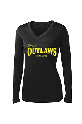 Iowa Outlaws Grey - Performance Long Sleeve- Women's