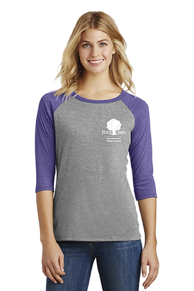 Four Oaks 3/4 Sleeve Raglan - Purple/Grey