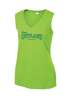 Iowa OUTLAWS Fastpitch PERFORMANCE TANK - LIME SHOCK