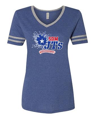SDM JT's Triblend Womens Ringer Varsity T-Shirt