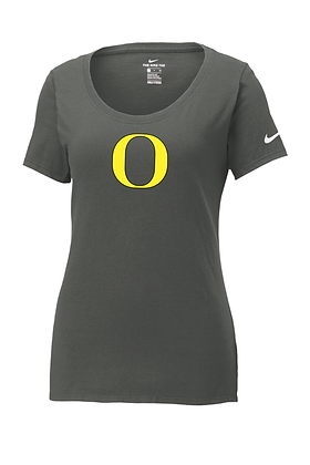"Outlaw Grey ""O"" Womens Nike Core Cotton Tee"
