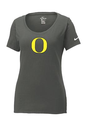 "Outlaw Grey ""O"" Womens Nike Core Cotton Tee"