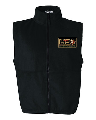 Hit Squad Outdoors Fleece Vest with Patch - Black