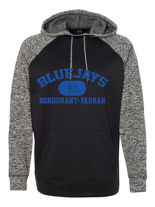 Bluejays Performance Hoodie - Distressed Logo - Blue